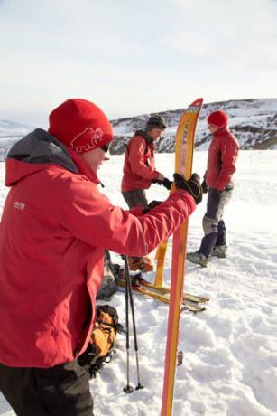 лыжи март